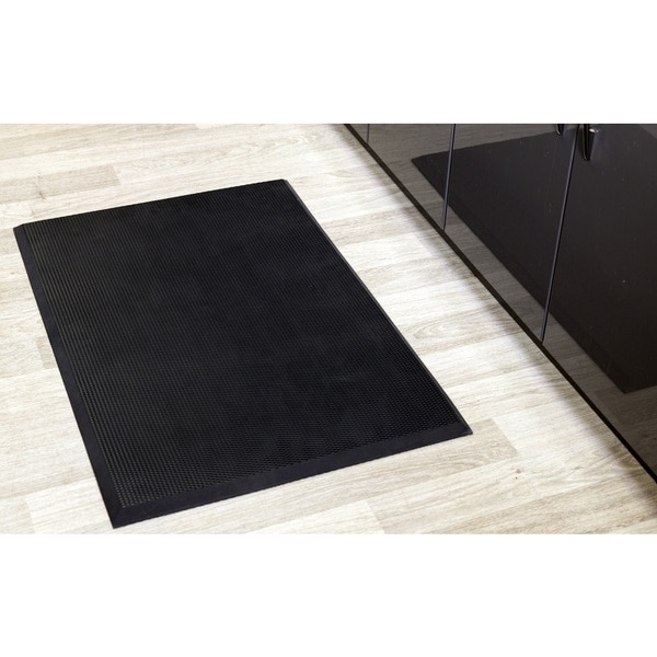 Professional Comfort Plus Black/Brown Rubber Floor Mat 20532235