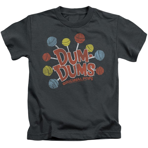 Dum Dums/Original Pops Short Sleeve Juvenile Graphic T-Shirt in Charcoal