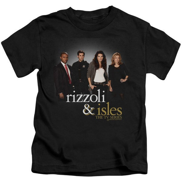 Rizzoli & Isles/R&I Cast Short Sleeve Juvenile Graphic T-Shirt in Black