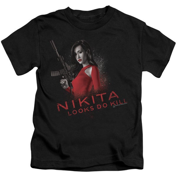 Nikita/Looks Do Kill Short Sleeve Juvenile Graphic T-Shirt in Black