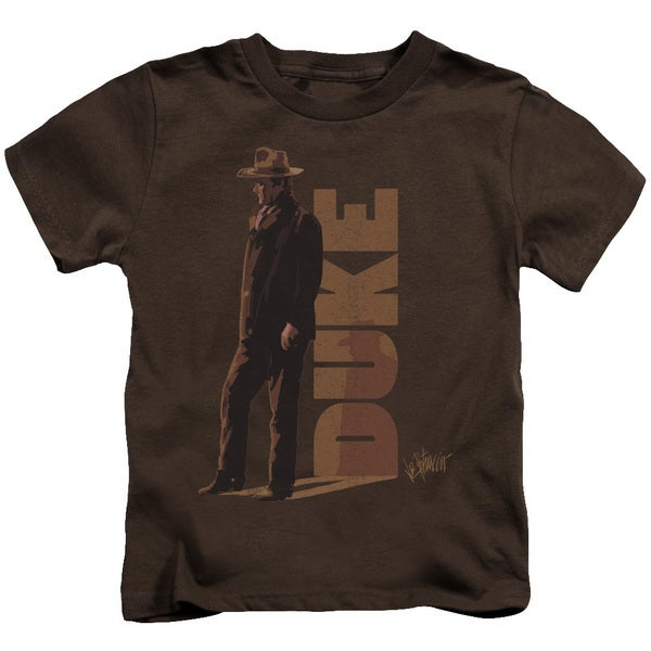 John Wayne/Lean Short Sleeve Juvenile Graphic T-Shirt in Coffee