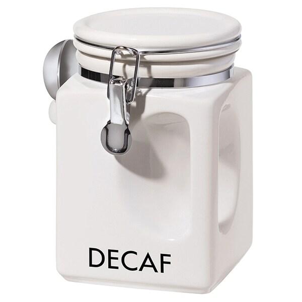Oggi Corporation White EZ Grip Decaf Coffee Canister 20532810