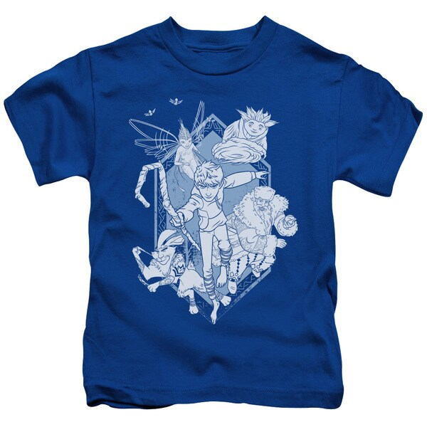 Rise Of The Guardians/Coming For You Short Sleeve Juvenile Graphic T-Shirt in Royal Blue