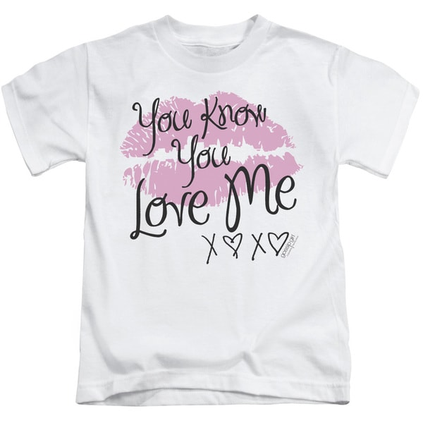 Gossip Girl/You Love Me Short Sleeve Juvenile Graphic T-Shirt in White
