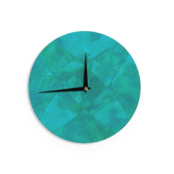 KESS InHouse Matt Eklund 'Under The Sea' Teal Green Wall Clock