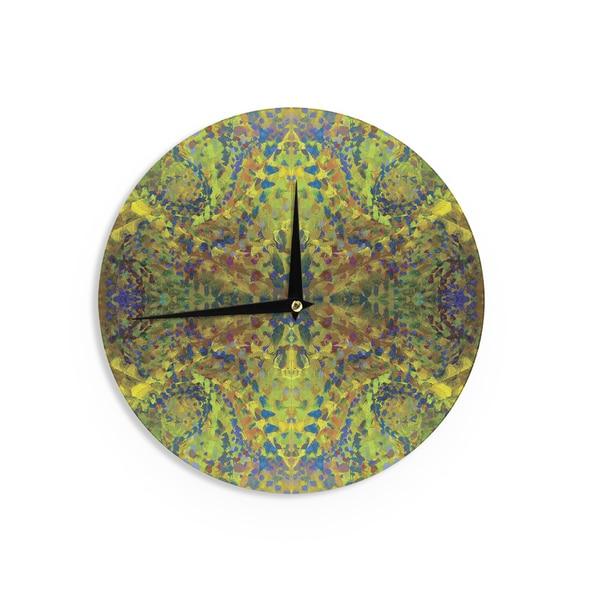KESS InHouse Vasare Nar 'Get Lucky' Black White Wall Clock