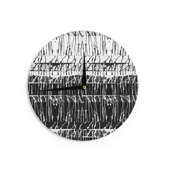 KESS InHouse Vasare Nar 'Just Do It' Tan Rainbow Wall Clock