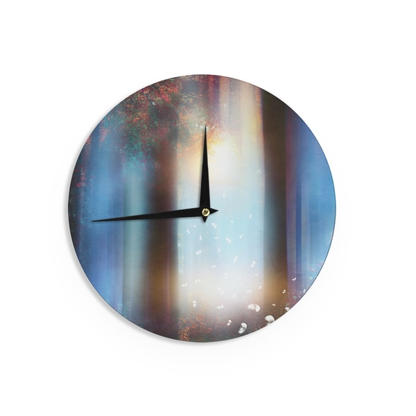 KESS InHouse Viviana Gonzalez 'Hope In Blue Part II' Aqua Red Wall Clock