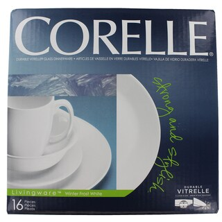 Corelle 6022003 16 Pc Corelle® Livingware White Winter Frost Dinnerware Set