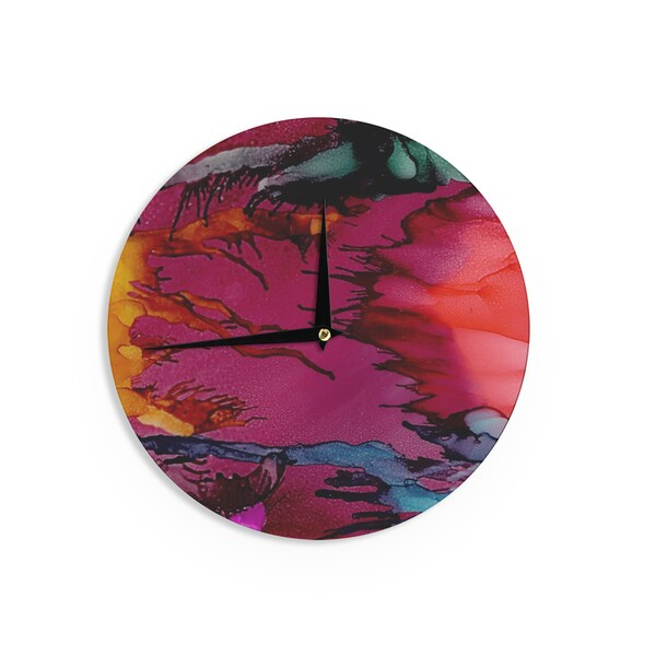 KESS InHouse Artist Name 'Marianas Trench' -Tags Wall Clock