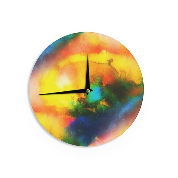 KESS InHouse No 'Good Vibrations' Abstract Multicolor Wall Clock 20533573