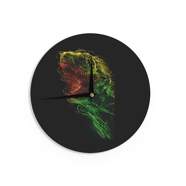 KESS InHouse BarmalisiRTB 'Killing Machine' Green Digital Wall Clock