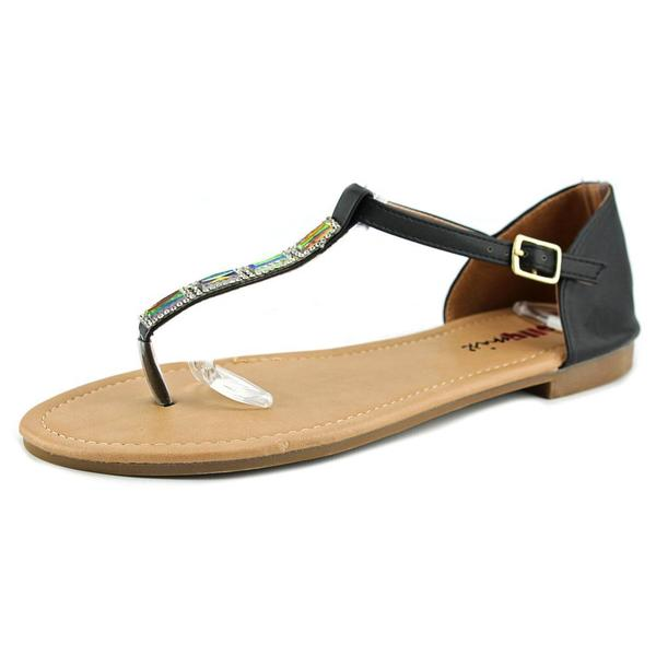 Dollymix Women's 'Ella-60' Black Synthetic Sandals