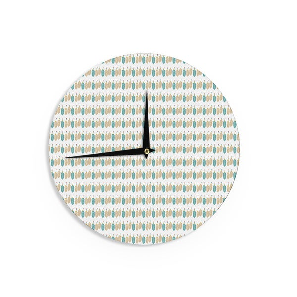 KESS InHouse Petit Griffin 'Colour Dream' Green Abstract Wall Clock