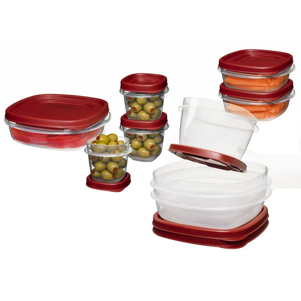 Rubbermaid 1777170 18-count Chili Red Easy Find Lid Food Storage Containers 20534389