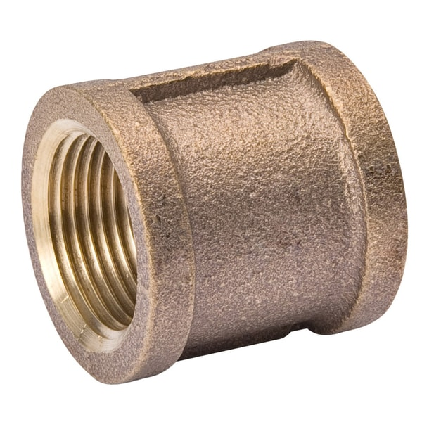 "B And K Industries 454-001NL 1/4"" Red Brass Coupling Pipe"