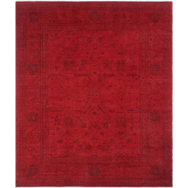 Barton Red Overdyed Rug (8'1 x 10')