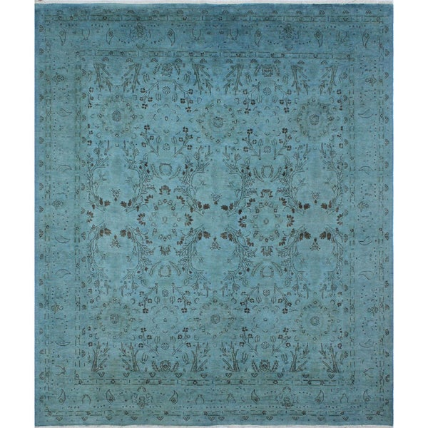 Esther Light Blue Overdyed Rug (8'5 x 9'9)
