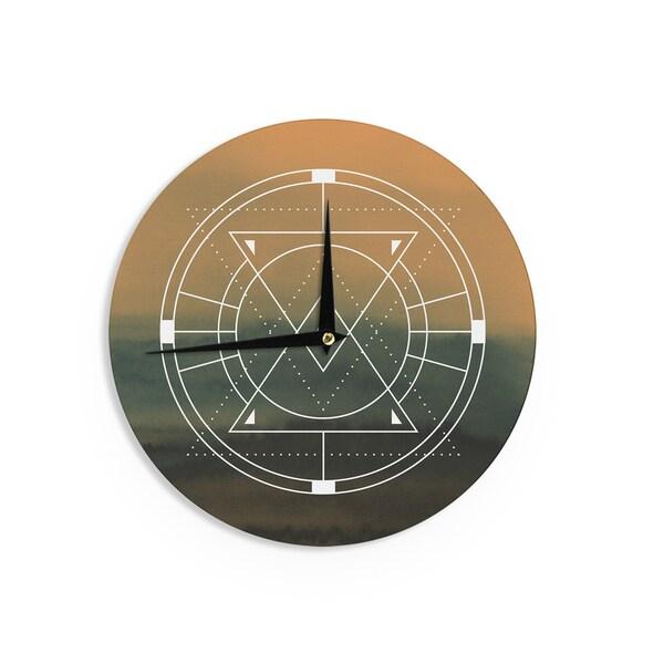KESS InHouse Matt Eklund 'Lost City' Tan Geometric Wall Clock