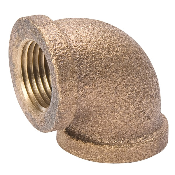 """B And K Industries 450-003NL 1/2"""" Red Brass Elbow Pipe"""