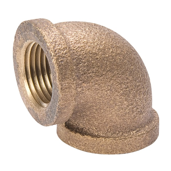 """B And K Industries 450-002NL 3/8"""" 90D Red Brass Elbow"""