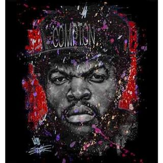 Stephen Fishwick Ice Cube 'Straight Outta Red' Canvas Wall Art