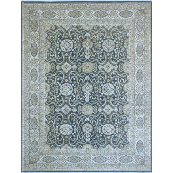 Peshawar Oksana Grey Wool 11-feet-10-inches x 16-feet-2-inches Rug