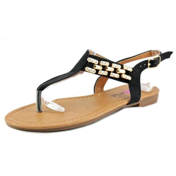 Dollymix Women's 'Ella-80' Black Synthetic Sandals