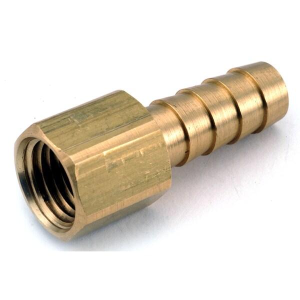 """Amc 757002-0404 1/4"""" X 1/4"""" Brass Hose Barb"""