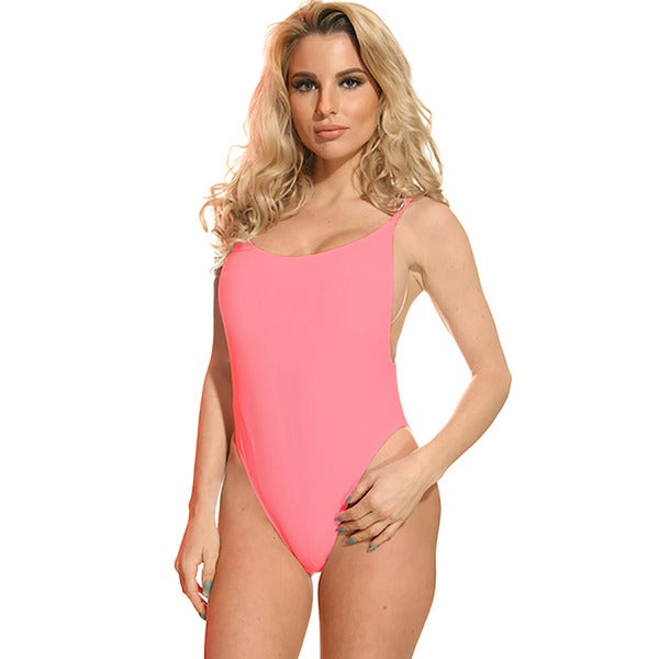 Dippin' Daisy's Solid Coral Women's High-cut Vintage-style One-piece Swimsuit