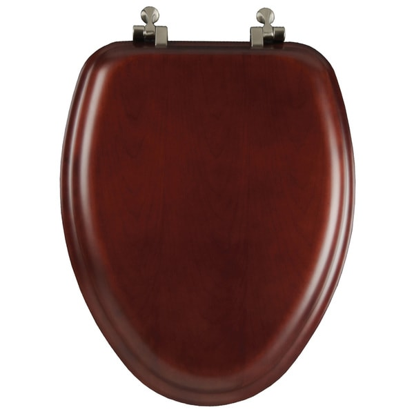 Mayfair 19602NI-178 Natural Reflections Wood Veneer Cherry Toilet Seat