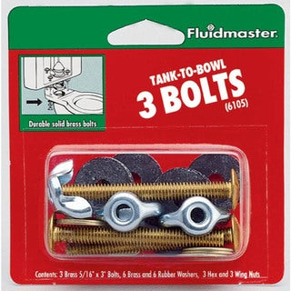 Fluidmaster 6105 Tank-To-Bowl 3 Bolts