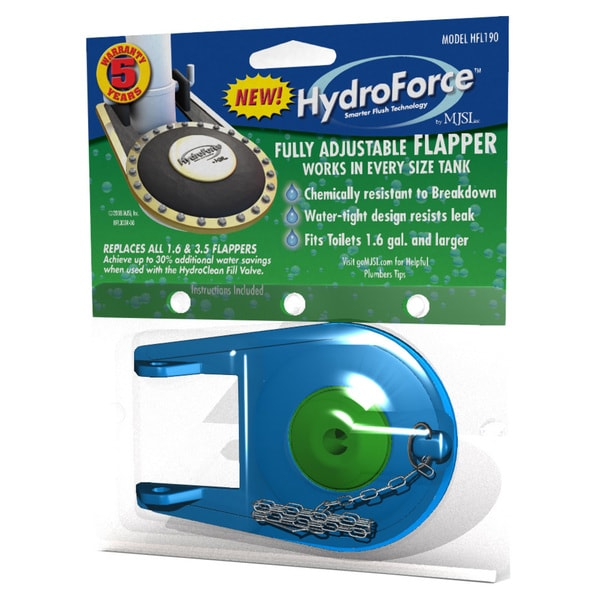Hydroforce HFL190 HydroForce Premium Adjustable Toilet Flapper