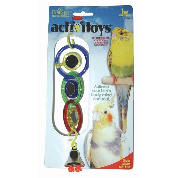 JW Pet Activitoy Triple Mirror Bird Toy