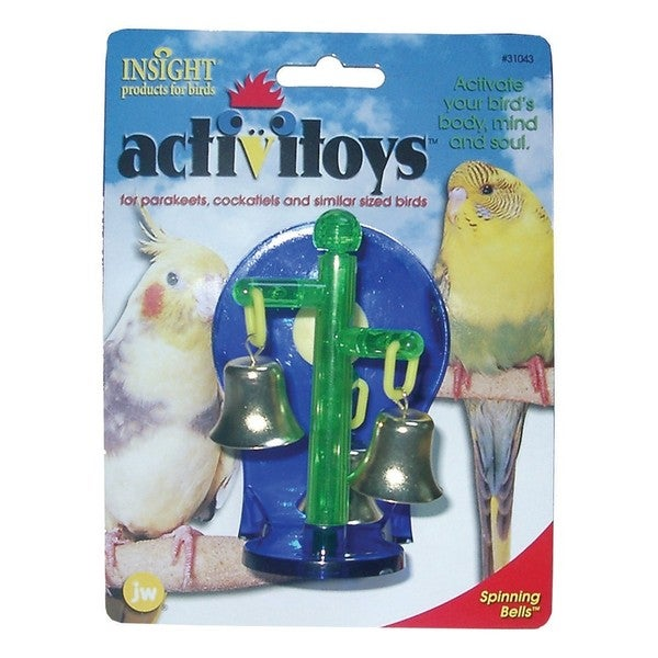JW Pet Activitoy Spinning Bells Bird Toy