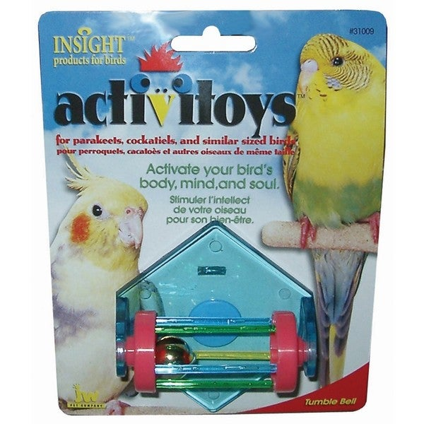 JW Pet Activitoy Plastic Tumble Bell Bird Toy