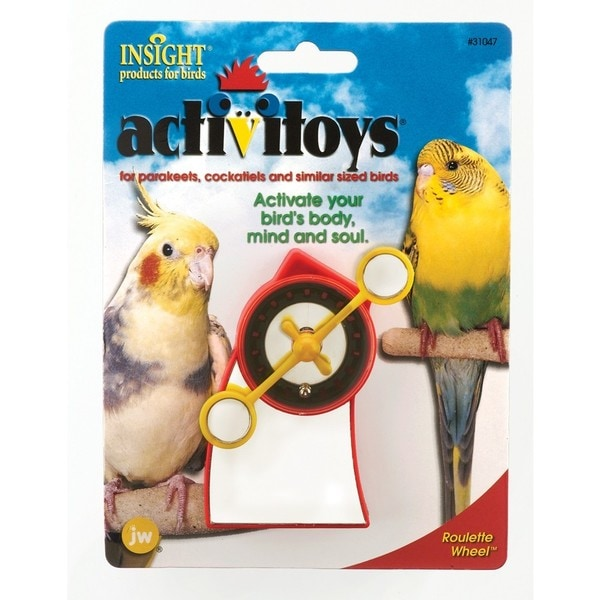 JW Pet Activitoy Roulette Wheel Bird Toy