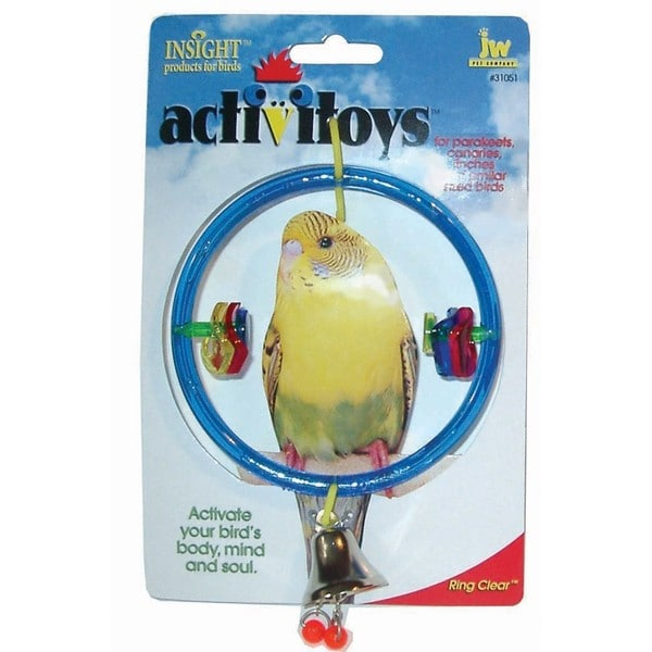JW Pet Activitoy Ring Clear Bird Toy