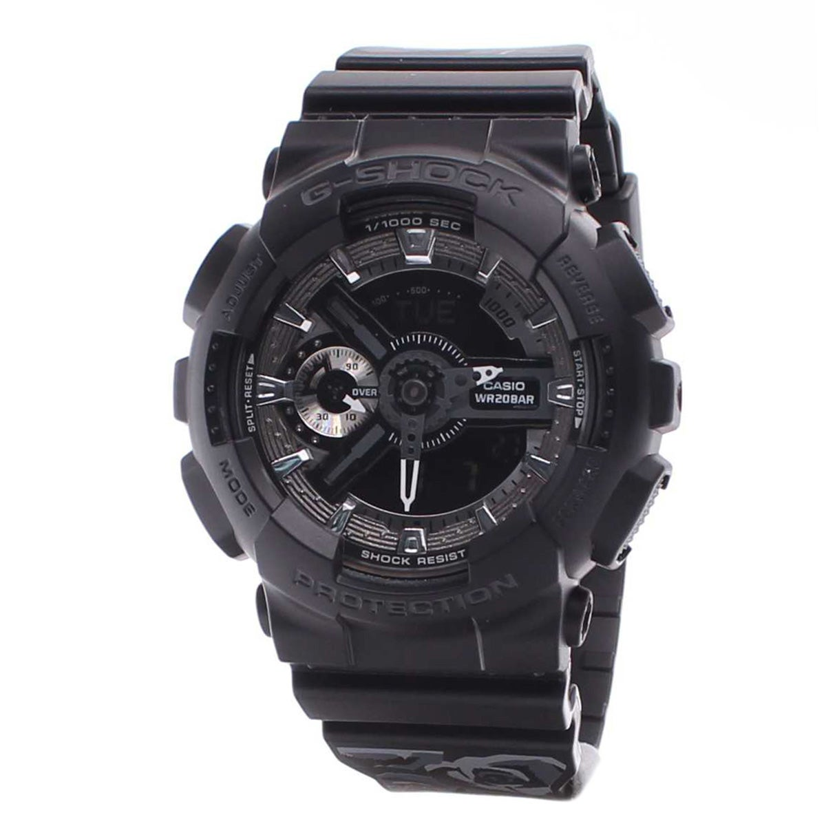 Casio Womens G-Shock S Series Black Rubber Floral Pattern Watch