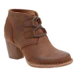 Women's Clarks Carleta Lyon Ankle Bootie Brown Oiled Cow Nubuck