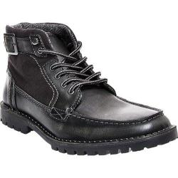 Men's Steve Madden Nummero Moc Toe Boot Black Leather