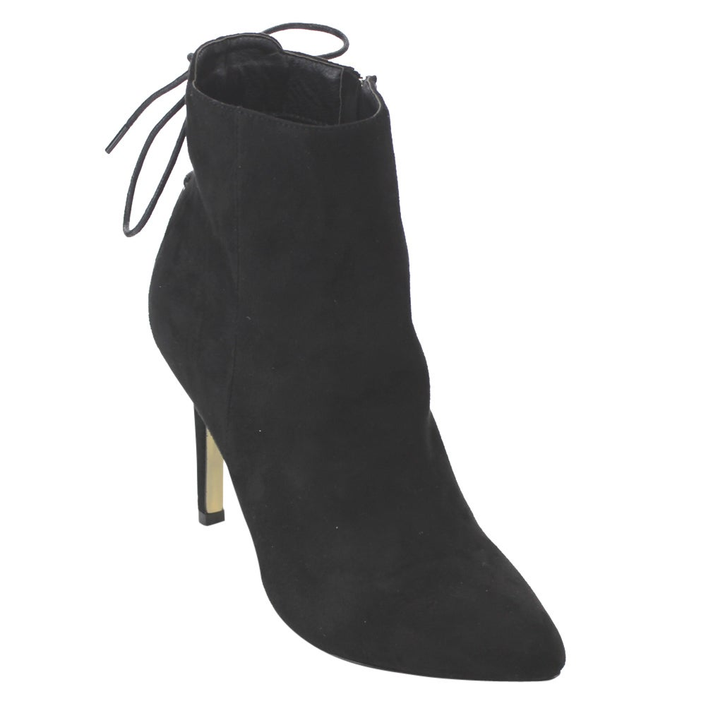 Betani FD30 Women's Back Lace-up Stiletto High-heel Ankle Booties