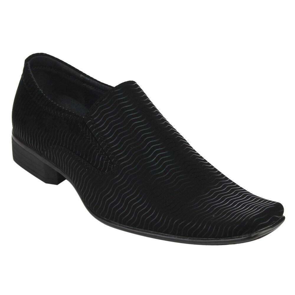 Miko Lotti Men's FD45 Black Slip-on Formal Dress Loafers