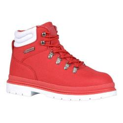 Men's Lugz Grotto Ripstop Work Boot Mars Red/White Textile