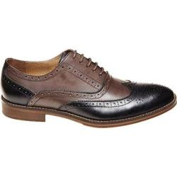 Men's Steve Madden Brymm Wing Tip Brogue Black/Brown Waxed Leather