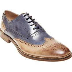 Men's Steve Madden Brymm Wing Tip Brogue Tan/Blue Waxed Leather
