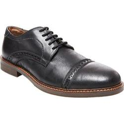Men's Steve Madden Dystrow Cap Toe Oxford Black Leather