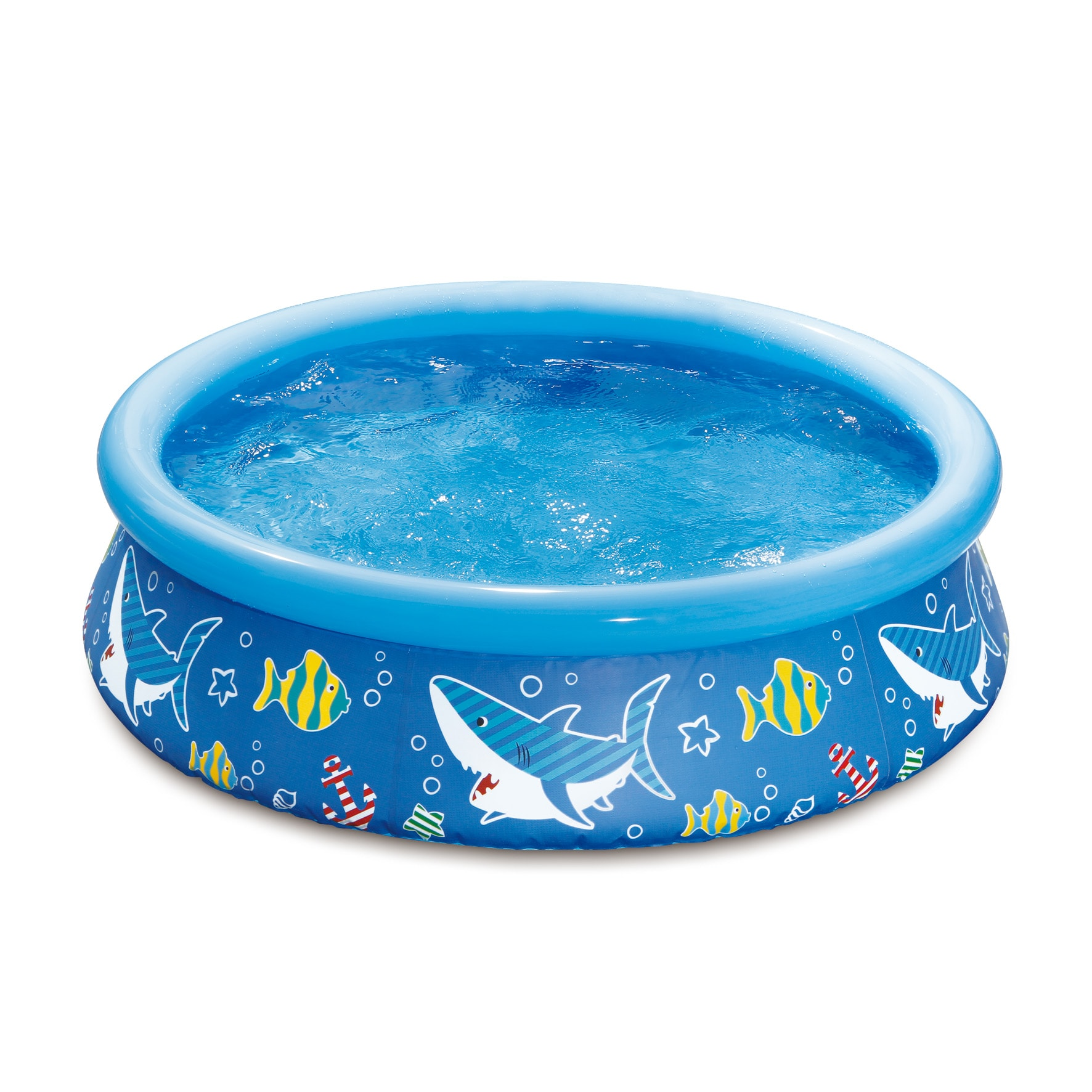 Blue PVC 5-feet Diameter x 15-inches High Quick Set Ring Pool