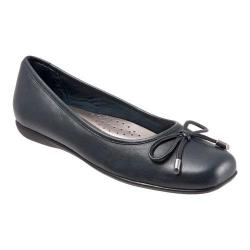 Women's Trotters Sante Ballet Flat Navy Soft Nappa Leather