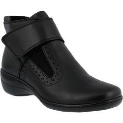 Women's Spring Step Katri Bootie Black Smooth Leather